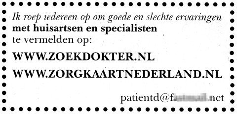 advertentie in krant